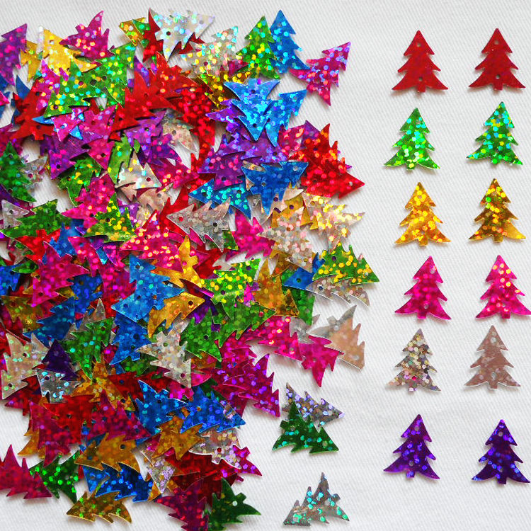 20gram/Lot Colorful Tree Sequins Craft Material Kindergarten Arts And Crafts Intelligence Toy Creative Activity Item Wholesale