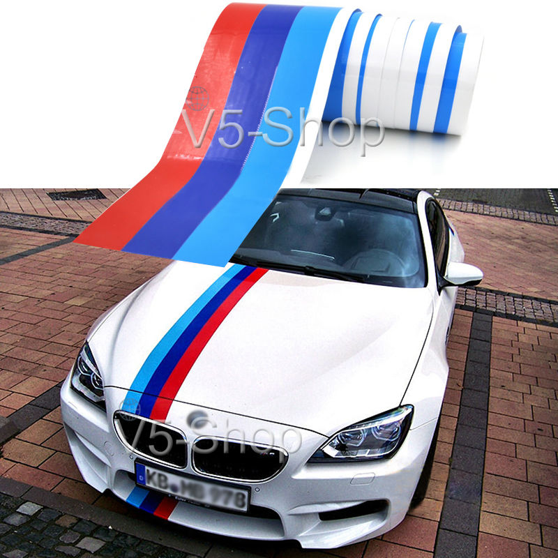 3 Size 1 5m 2m 3m M Colored Stripe Car Hood Sticker Decal
