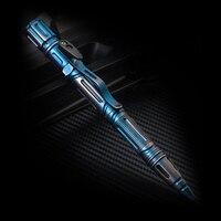 H1151 titanium-plated multi-função caneta tática defesa alarme iluminação apito janela quebrada sobrevivência caneta escrita tática edc