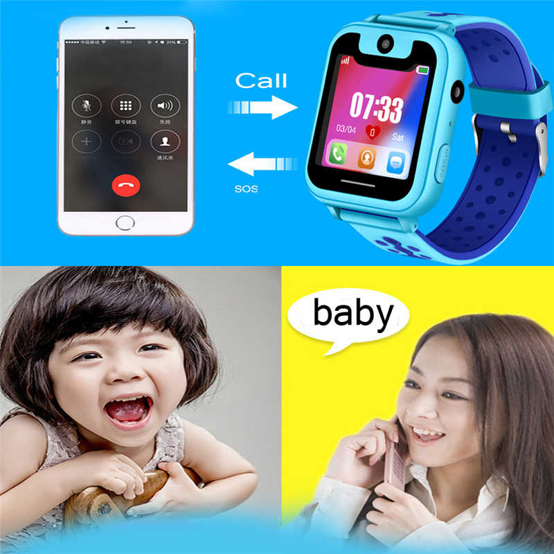 BANGWEI2018 new children's smart watch GPS remote positioning SOS emergency mobile phone reminder voice chat support SIM camera