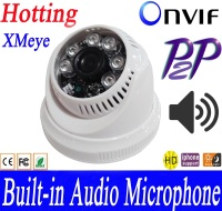 XMEYE 1280 720P 1 0MP 1 3MP Built In Audio Microphone DOME IP Camera Video Surveillance