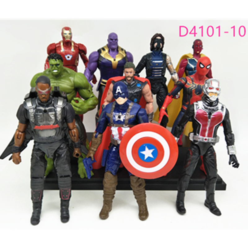 Marvel Avengers Infinity War Movie Anime Super Heros Captain Ironman America Spiderman Hulk Thor Superhero PVC Action Figure #E original factory big sale child muscle thor movie avergers superhero costume