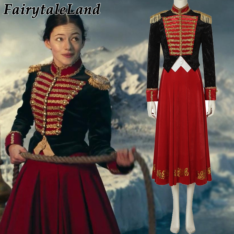 Clara Costume The Nutcracker and the Four Realms Cosplay Halloween Costume Clara Uniform suit Custom Made Costume