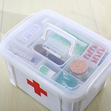 Large Family Home Medicine Chest Cabinet Health Care Plastic Drug First Aid Kit Box Storage Box Chest of Drawers 29hfx(China)