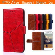 huawei honor play 5c case cover flip huawei honor 5C case 5.2inch leather cover honor5c luxury gold original fundas thin(China)