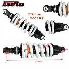 TDPRO amortisseur de Moto tout terrain, Suspension à ressort, en alliage, amortisseur arrière, 1000lbs, 270mm, vélo de piste