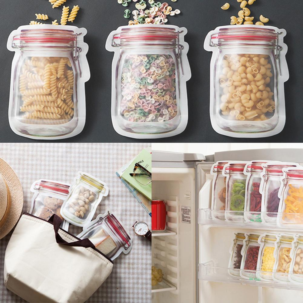Creative Portable Jar Dried Food Fruit Nuts Tea Packaging Pouches Sealing Bags