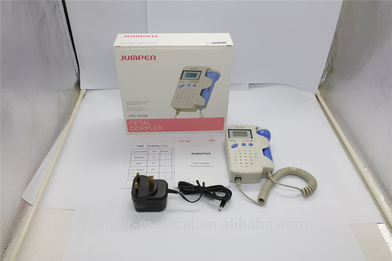 Jumper Handheld Pocket Digital Fetal Doppler JPD-100B 2.5MHz Home Use Baby Heart Rate Detector Monitor with Rechargeable battery