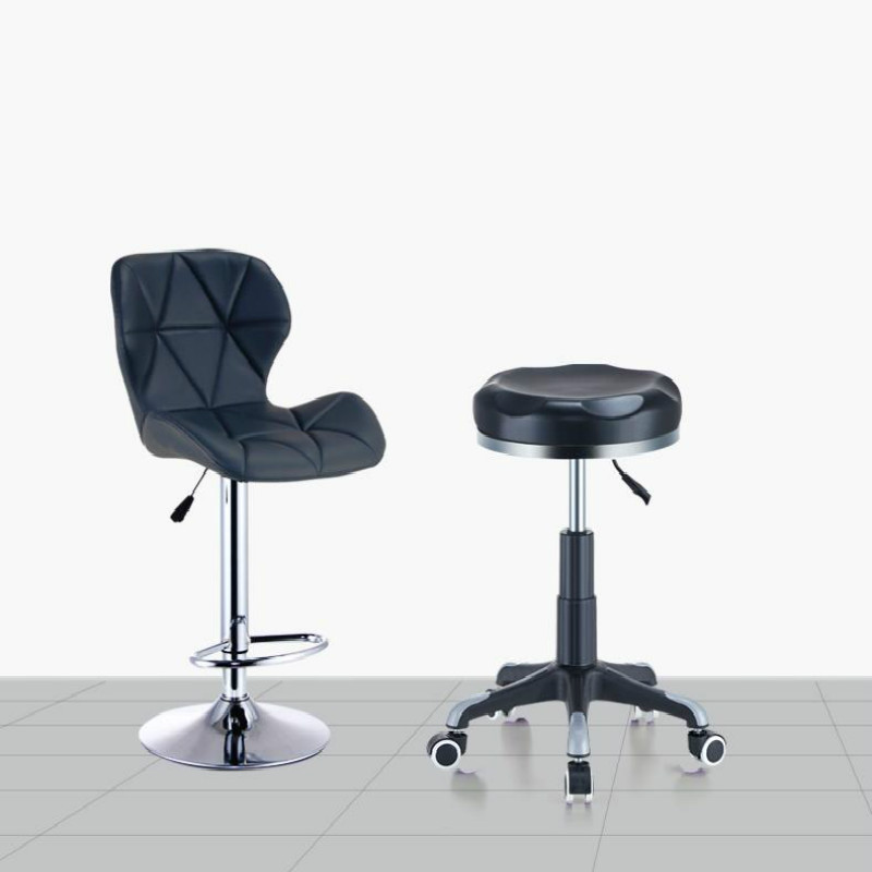 faux pu leather round salon massage chair adjustable swivel rh aliexpress com salon massage chair pedicure massage chair for beauty salon