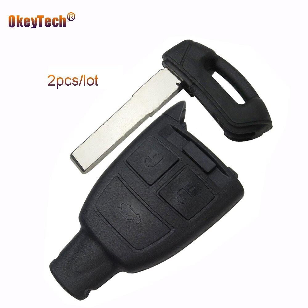 OkeyTech 2 teile/los Remote-Smart Card Für Fiat Punto Schlüsseloberteil 3 taste Ersatz Autoschlüssel Gehäusedeckel Fob Uncut Kleinen Klinge Schlüssel