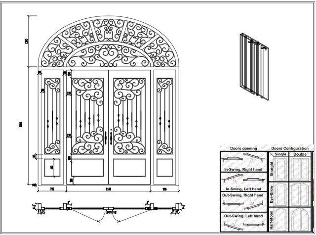 iron front doors CAD wrought iron doors 8mm clear glass+ 12 gauge steel +8mm rain  sc 1 st  AliExpress.com & iron front doors CAD wrought iron doors 8mm clear glass+ 12 gauge ...