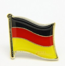 Bendera Nasional Logam Kerah Pin Flag Pin Jerman(China)
