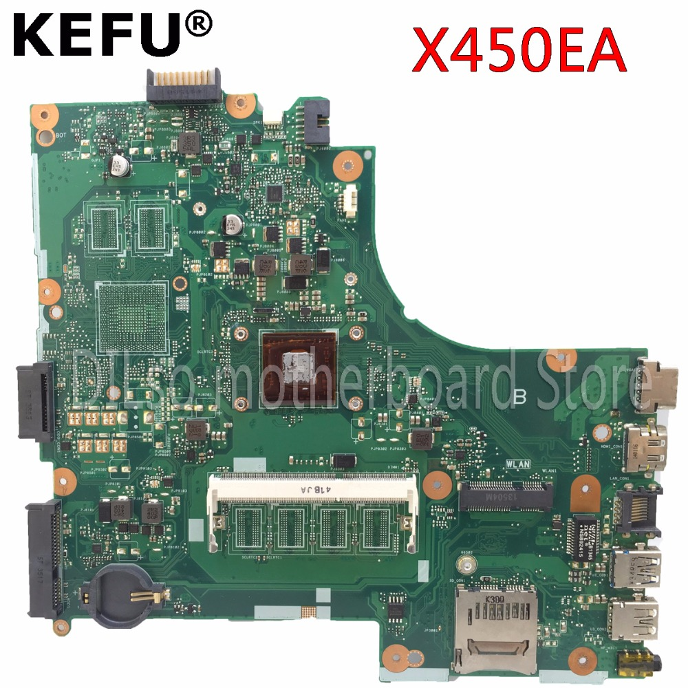 KEFU X450EP motherboard for ASUS X450EP X450EA laptop motherboard with with process original motherboard Test цена