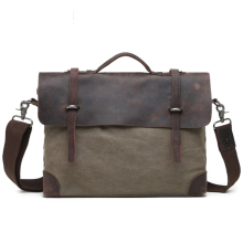 Messenger Bag Men Waterproof Canvas Military Oil Shoulder