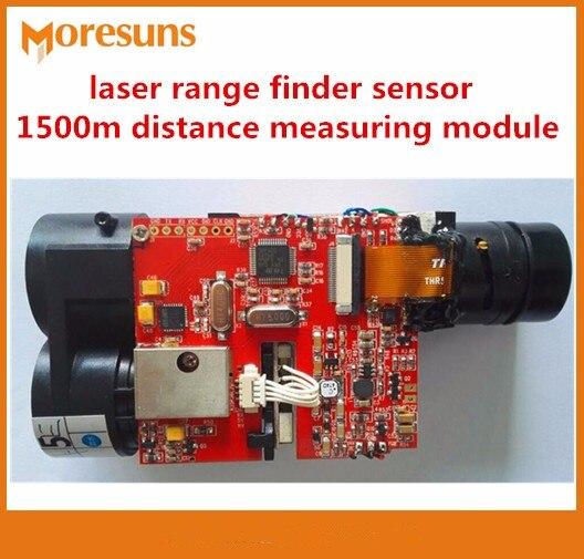 Быстрая Бесплатная доставка лазерный дальномер датчик промышленный модуль + 0.3 м (в пределах 400 м) 1500 м дальнометрия модуль
