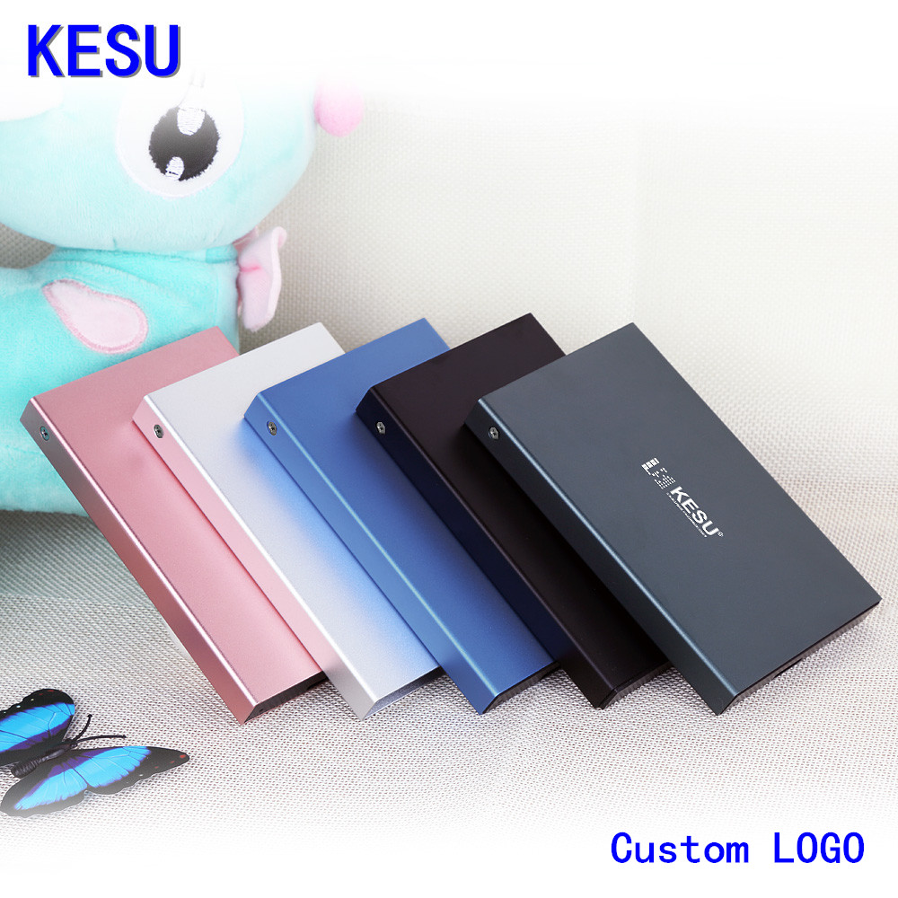 "Original KESU 2.5"" Metal Slim Portable External Hard Drive Custom LOGO USB 3.0 250GB 1TB 2TB Storage HDD External HD Hard Disk(China)"