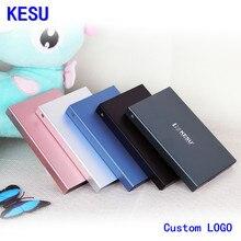 Оригинальный KESU 2,5 «металлический тонкий портативный внешний жесткий диск на заказ с логотипом, USB 3,0 250 GB 1 ТБ 2 ТБ жесткий диск Внешний HD жесткий диск