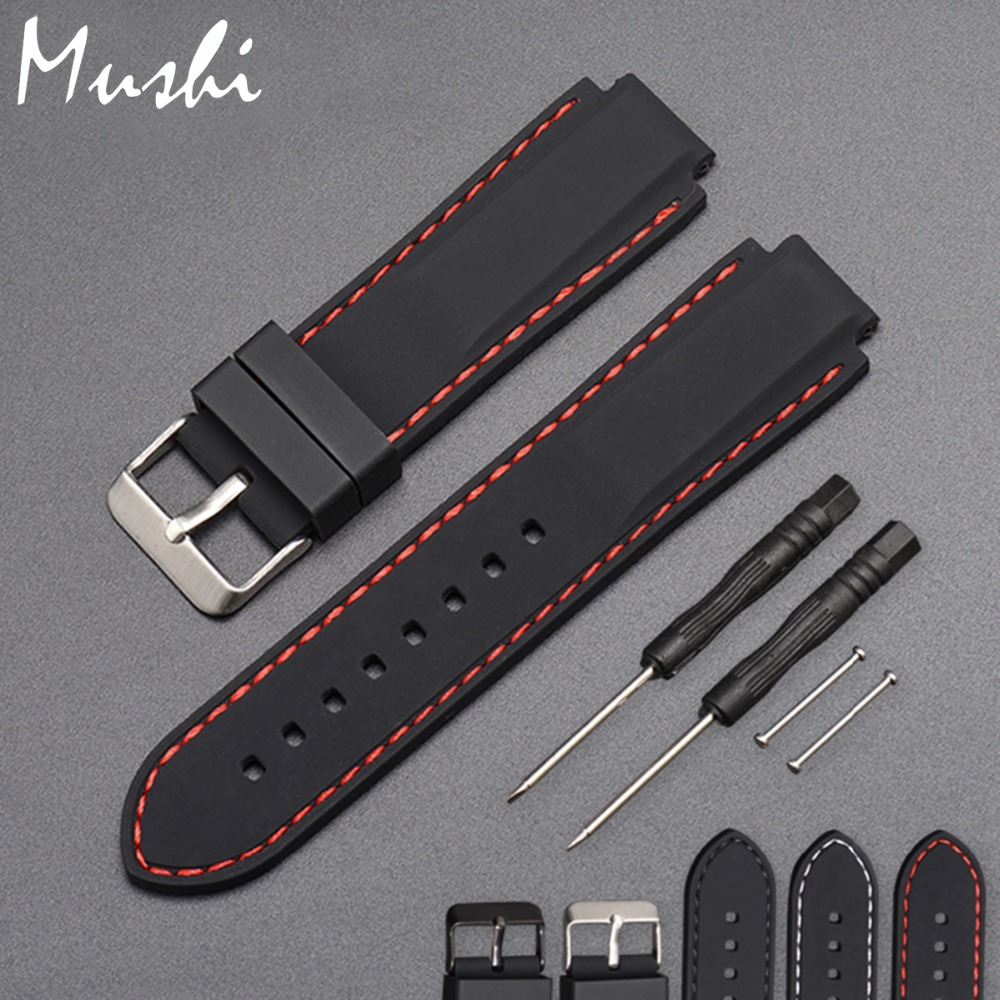 Silicone Rubber Watchband For Timex T49859|T2N720|T2p141|T2n722|723|738|739 Strap Quality black waterproof watch strap with tool цена
