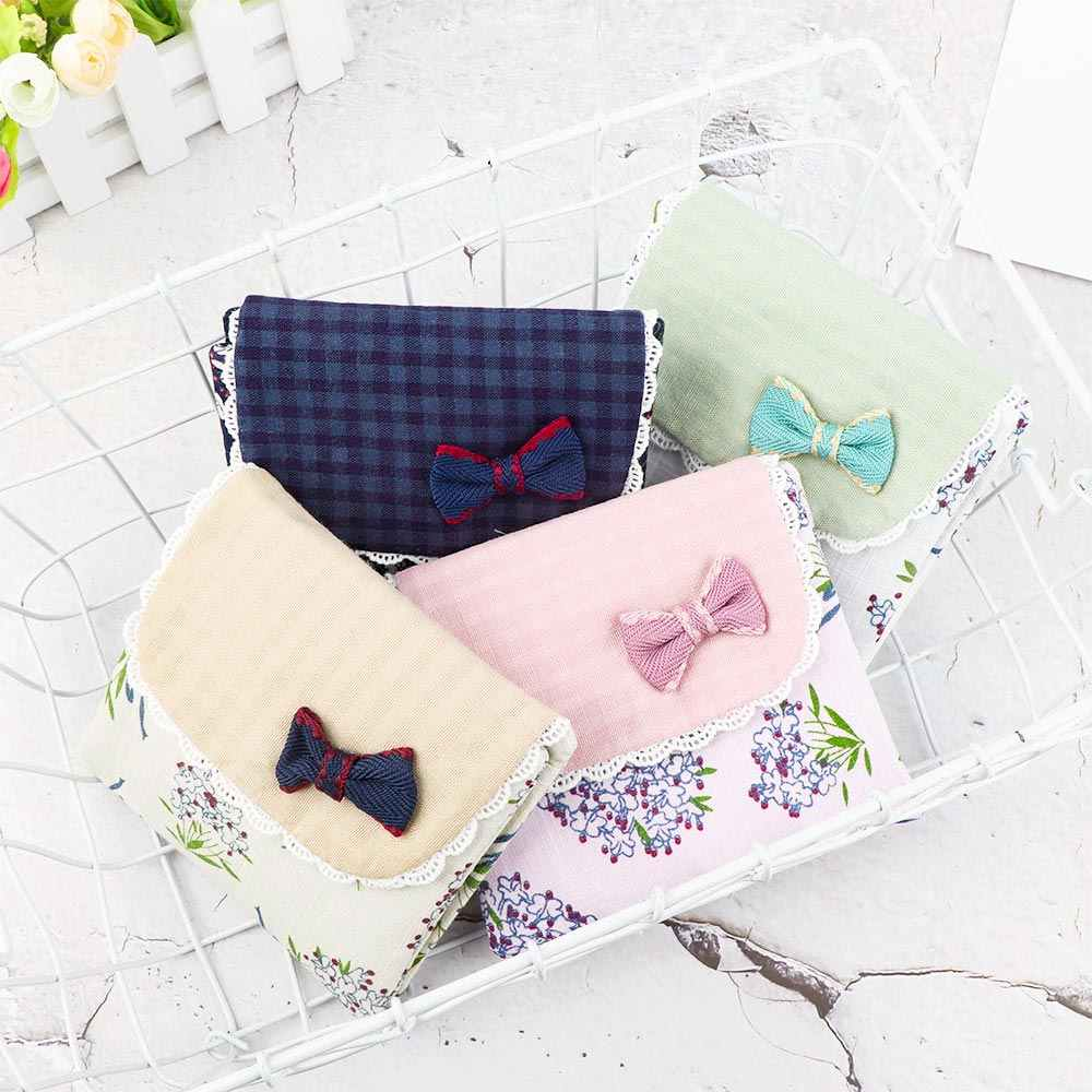 1pc storage bag Sanitary Towel Napkin Pad Purse Holder Case For Lady Girl Lovely Flower Pattern Canvas practical universal