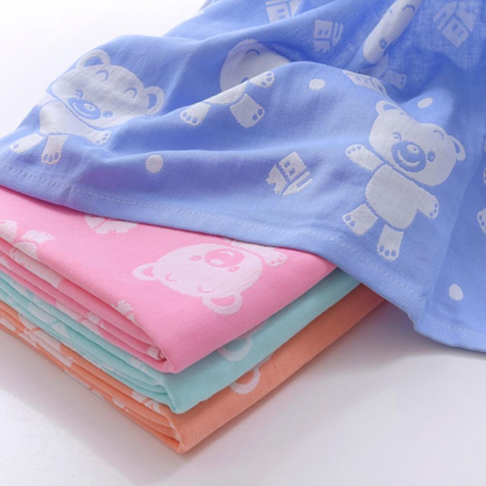 Dziecko bath towel gazy bawełnianej muślinu dziecko towel newborn cotton towel towel absorbingtowels miękkie myjka kreskówki dla dzieci 110*110 cm 15
