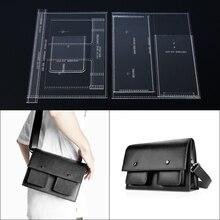 1 Набор, мужская сумка через плечо, кожаная, шаблон, акриловый трафарет для DIY, Ретро стиль, дизайн, 25*17,3*9,5 см