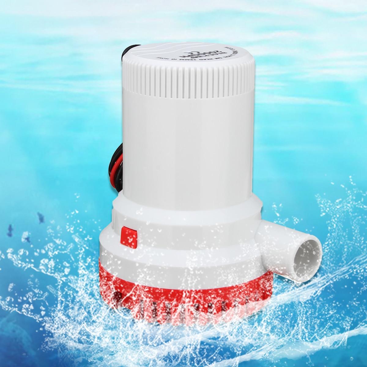 цена на 12V 8A 2000GPH Submersible Marine Boat Bilge Water Pump Fishing Caravan Camping Fully Submersible Electric Moisture Tight Seals