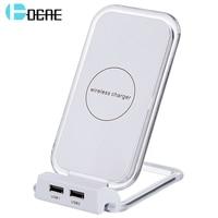 DCAE Qi Schnelle Drahtlose Ladegerät Für Samsung S8 S8 Plus S7 S6 Rand Hinweis 5 Handy-ladegeräte Schnelle Ladestation Halter Pad