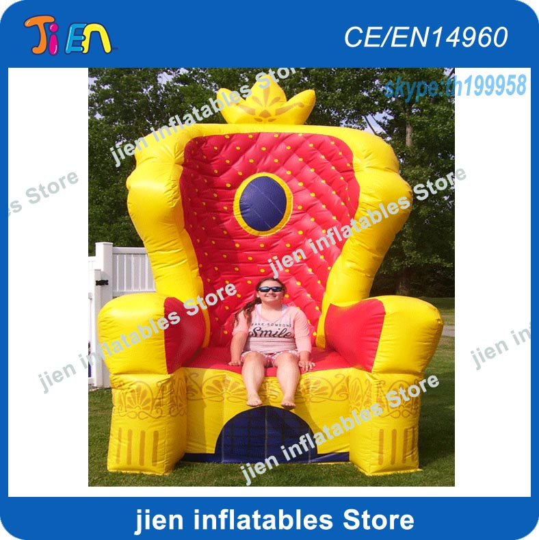 Inflatable Kids Birthday Chair: Free Air Shipping To Door,2x2x3mH Kings Inflatable Throne