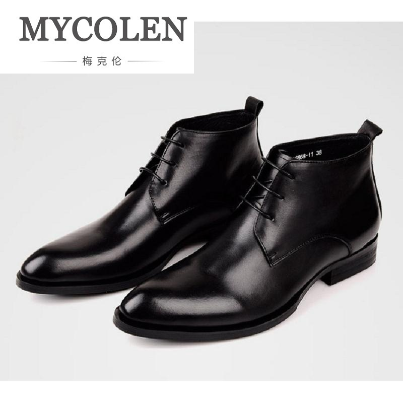 MYCOLEN Brand New Arrival Fashion Luxury Designer Men Shoes High Quality Brown Men Ankle Boots Leisure Scarpe Uomo Invernali brand designer high quality red leather shoes men lace up high top men casual shoes fashion cut outs luxury brand men shoes