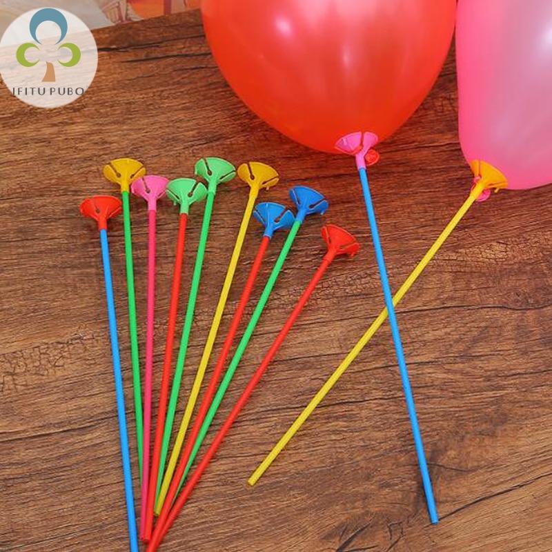 Home & Garden 10sets 42cm Holiday Children s Toys Balloon Accessories Stick Baby Birthday Balloon Decorations Lyq