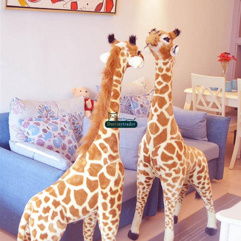 Dorimytrader Pop 145cm Giant Giraffe Plush Toys Soft Stuffed