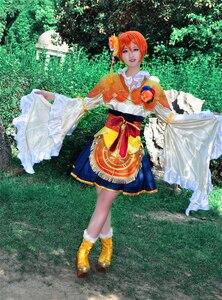 Image 2 - Aşk canlı RIN HOSHIZORA yedi şanslı tanrılar Shichifukujin uyanış cosplay kostüm cadılar bayramı anime elbise ücretsiz kargo