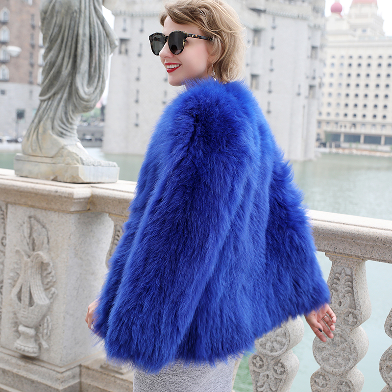 Luxury Women\'s Coat Jackets Real Fox Fur Jackets For Girls Natural Fox Fur Outerwear Female Winter Coats Warm (2)
