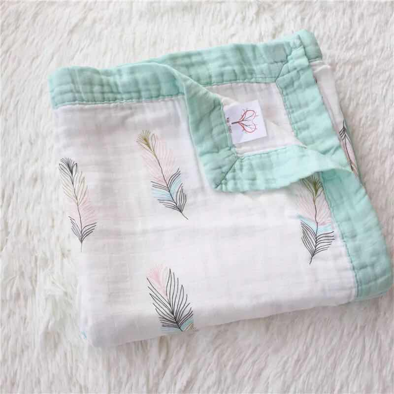feather layer Bamboo+ cotton Baby muslin blankets Swaddles Newborn Blankets Gauze infant wrap sleepsack swaddleme bath towel 6 layers muslin cotton baby blankets swaddles newborn wrap gauze crown children blankets infant bath towel size 150 200cm