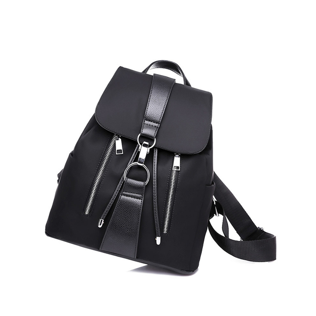 Preppy Style Women Backpack Nylon Fashion Backpacks for Teen Girls Large  capacity School Bag Travel Bags 816c7fa19c673