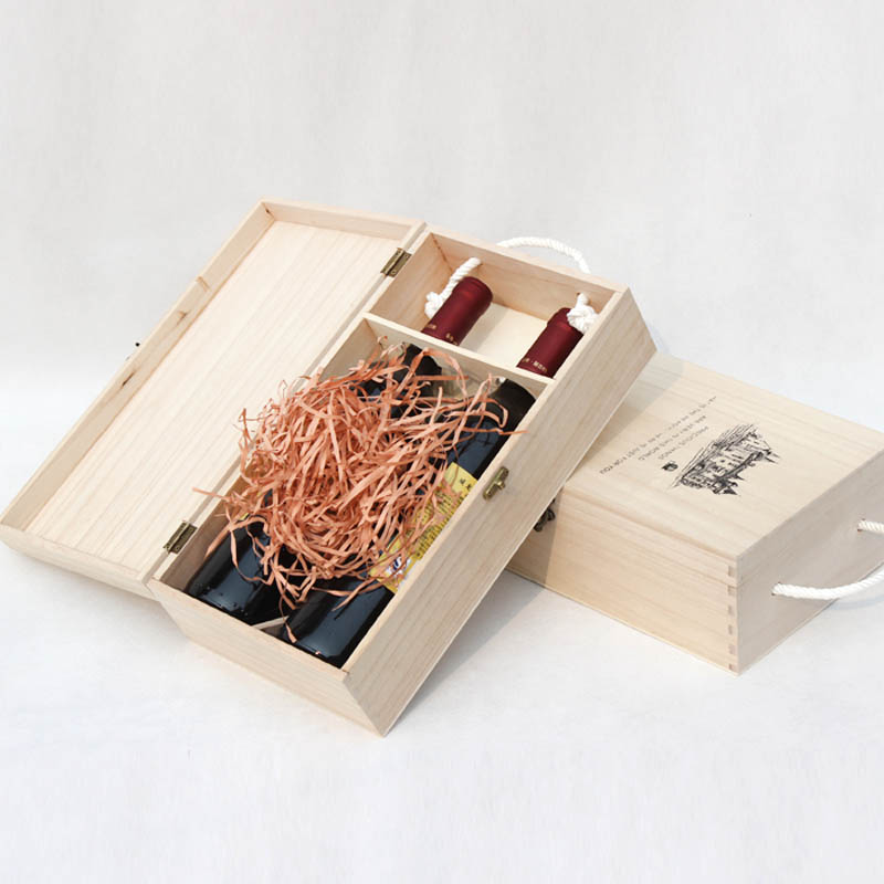 de alta calidad caja de vino tinto botella de vino caja de embalaje caja de regalo