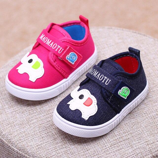 cf0acdacfe0 Kids Baby Schoenen Voor Jongens Lente Canvas Schoenen Kinderen Fashion  Sneaker Leuke Ademend Dierenprints Schoenen Cusual