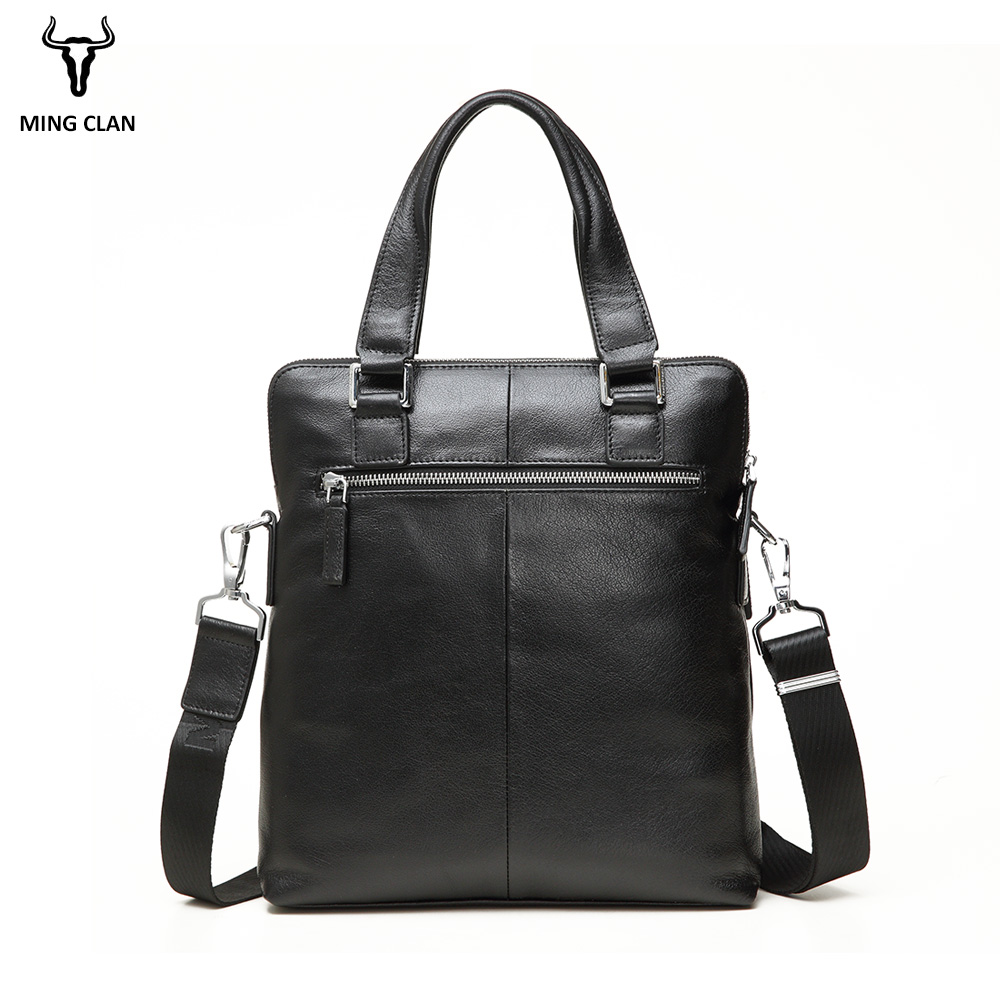 a7b364d1c8b Mingclan Genuine Leather Simple Office Bags Men's Bags Computer Laptop Bag  Business Briefcase Crossbody Suitcase Office Work Bag-in Briefcases from  Luggage ...