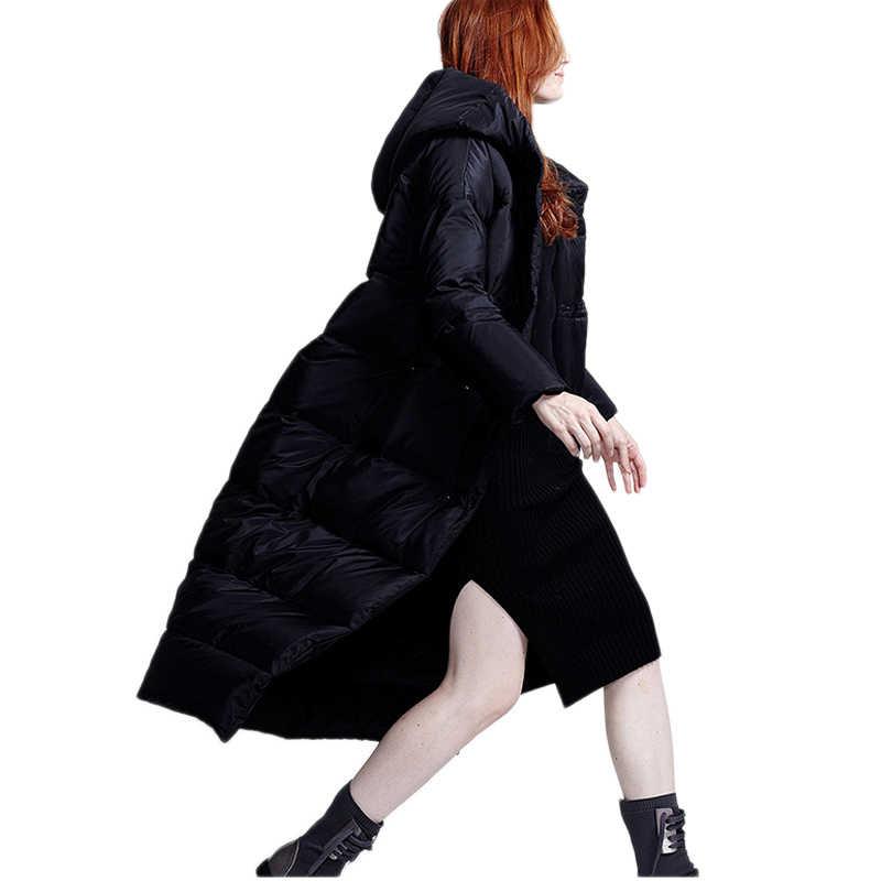 Nữ xuống áo khoác 2019 Áo khoác thời trang áo trắng mỏng vịt xuống Áo khoác XS-7XL