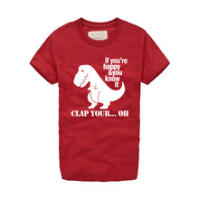new brand Fashion Cute Dinosaur Print Men T Shirt 2016 Summer Funny T-Shirt Men Street Wear in Classic Style Cotton Teeshirt