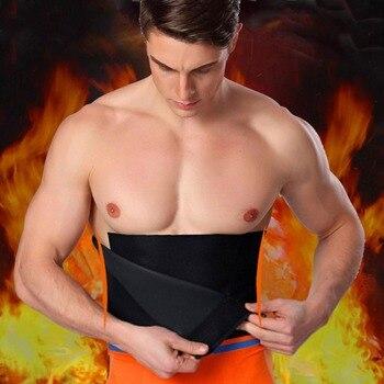 10c7a9b7dfa3 Cintura ajustable recortadora de abdomen adelgazante cinturón de sudor Fat Body  Shaper banda pérdida de peso quema ejercicio hombres mujeres vientre