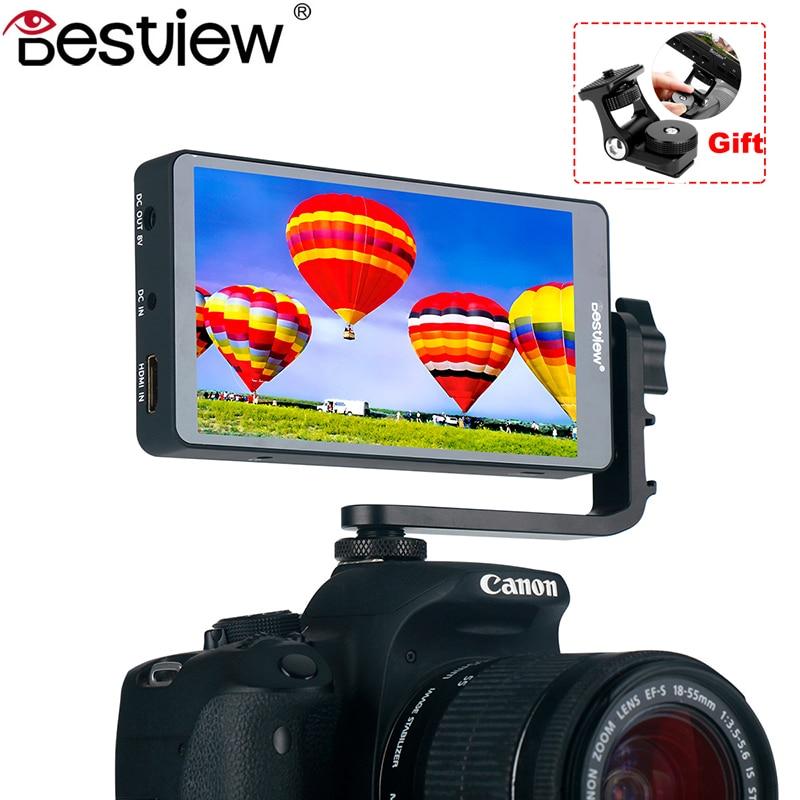 BesView S5 4 K HD 1080 P 5 pouces moniteur de caméra vidéo avec plaque L Support HDMI 360 Rotation 1920*1080 sur moniteur de caméra pour DSLR