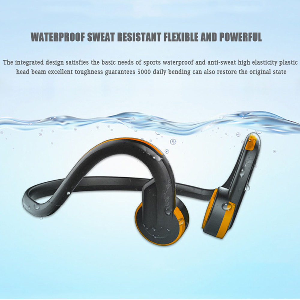 2018 Outdoor Bone Conduction Sports Headset Wireless Bluetooth 4.1 Headphones With HD Mic Ear Hook Neckband Earbuds For Phone PC mix8 open ear bone conduction bluetooth v4 1 headset outdoor sports wireless bluetooth headset head mounted headphones