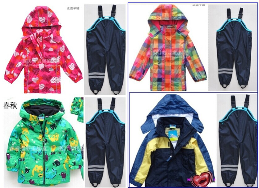 Girls Clothing Sets Retail Trade  Explosion Models Boy Child Suit (green Dinosaur Jacket + Bib) free Shipping In Stock купить
