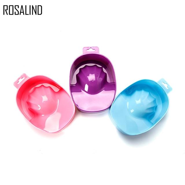 ROSALIND 1 Pcs Acrylic Nail Soaker Bowl Nail Art Tips Soakers Tray ...