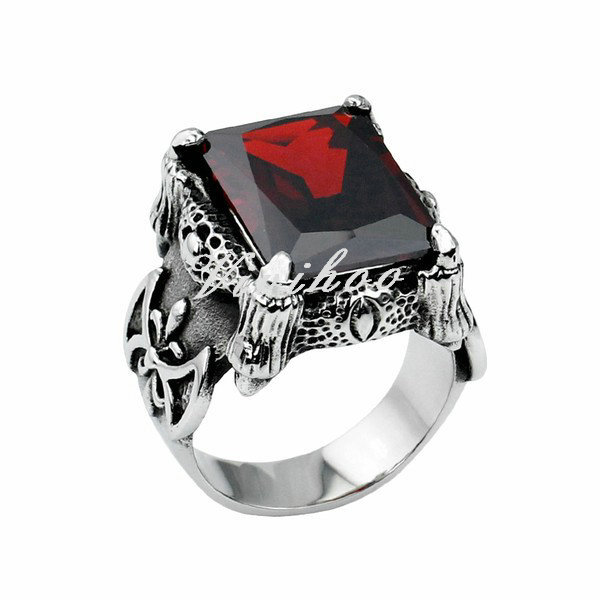Hot New Black Aniun Men Ring With Square Stone Vintage Anium Steel Luxury Wedding Engagement Mens Jewellery In Rings From Jewelry