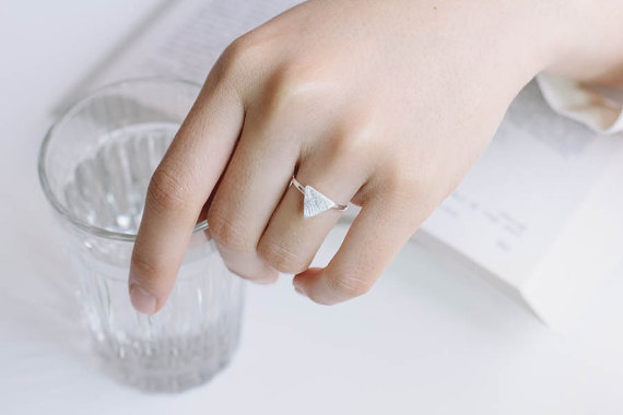 Brushed Triangle Ring