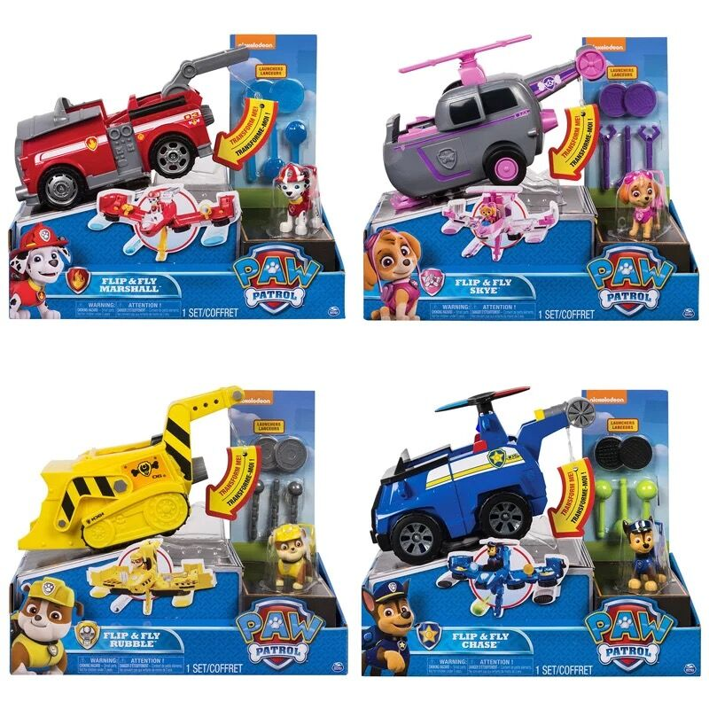 Original box Genuine Paw Patrol Flip Fly Chase 2 in 1 Transforming Vehicle chase marshall skye