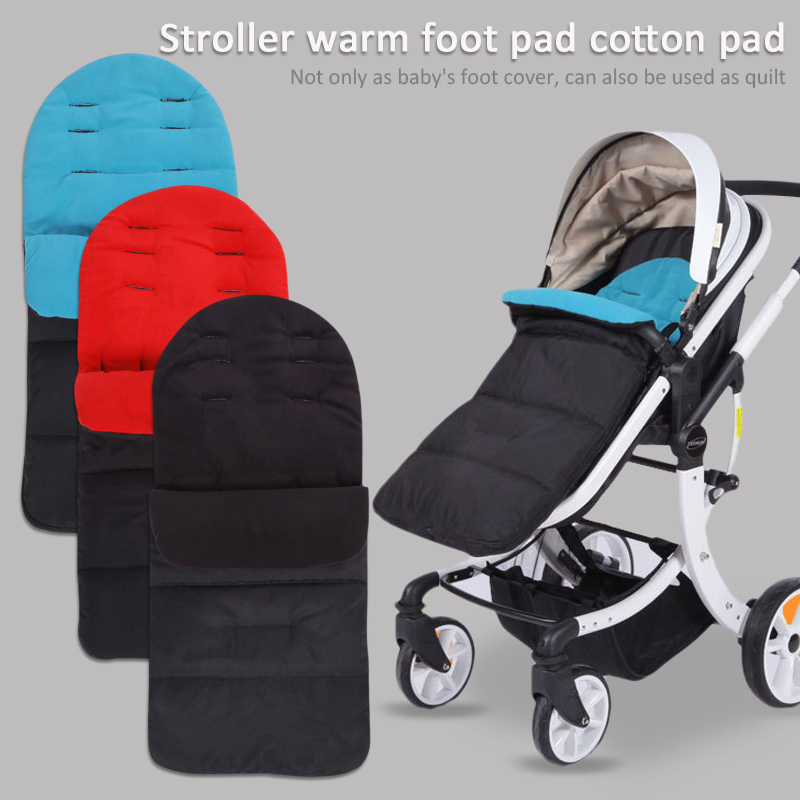 Baby Sleeping Bag for Universal Baby Stroller Cotton Cushion Thickened Warm Foot Cover Pad Baby Cart Sleep Sacks Waterproof
