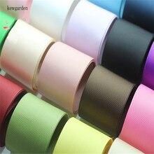 Kewgarden 38mm 1.5 Grosgrain Ribbons DIY Bowknot Satin Ribbon Handmade Tape Double Face Riband 12m/lot